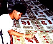 Textile worker in Chiangmai