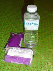 Tissue and water will be regular items on your Thai shopping list.